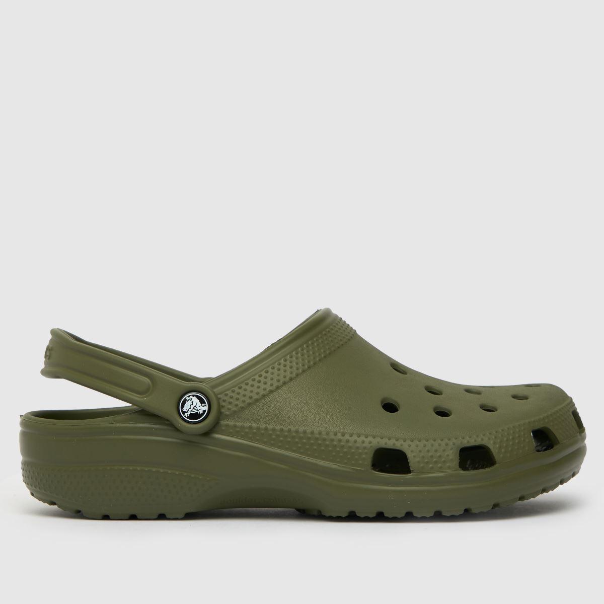 Crocs Dark Green Classic Sandals