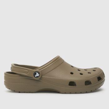 crocs Khaki Classic Clog Mens Sandals