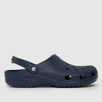crocs Navy Classic Mens Sandals