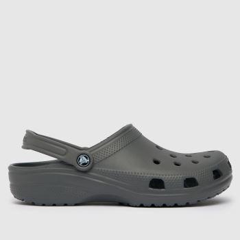 crocs Grey Classic Clog Mens Sandals