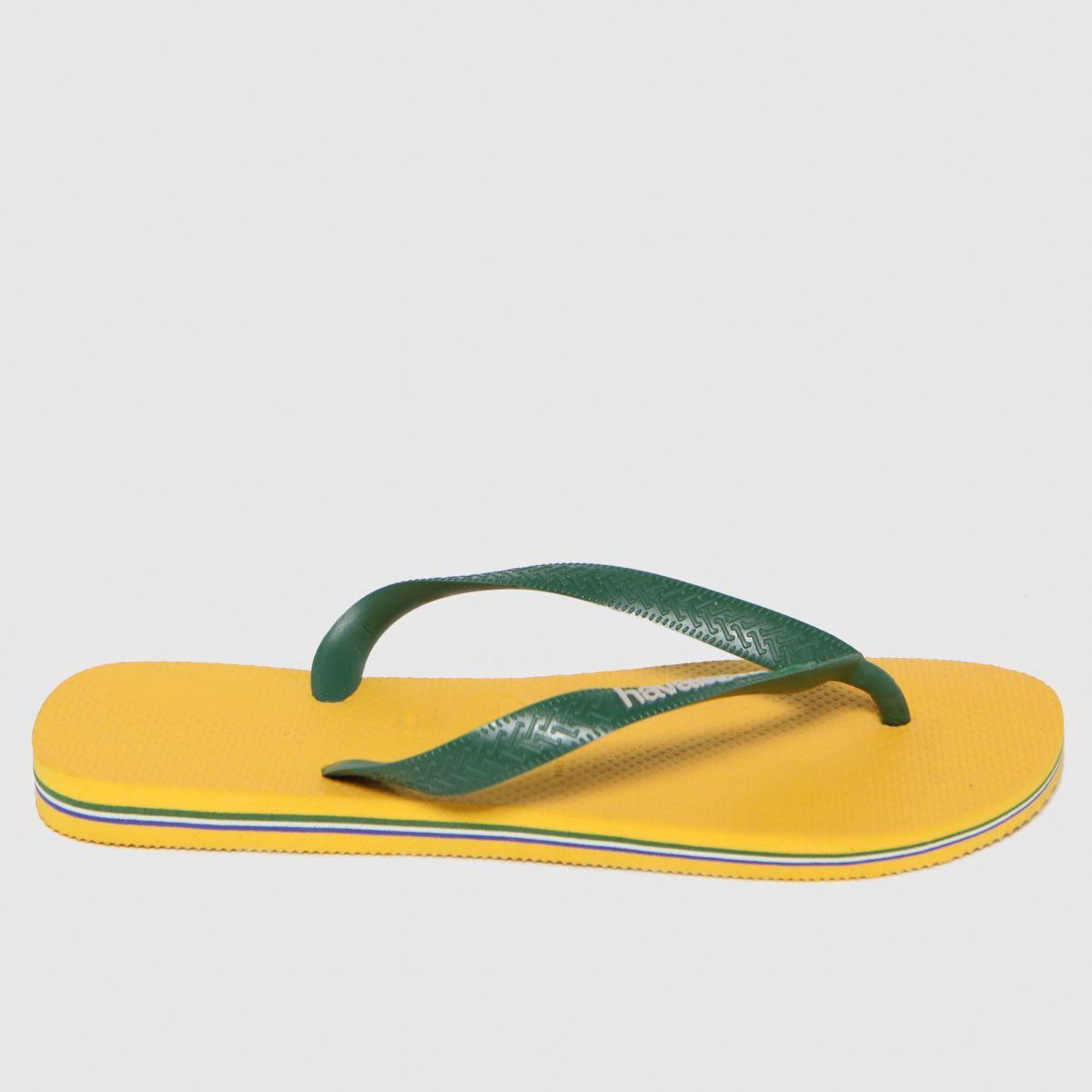 Havaianas Yellow Brasil Logo Sandals