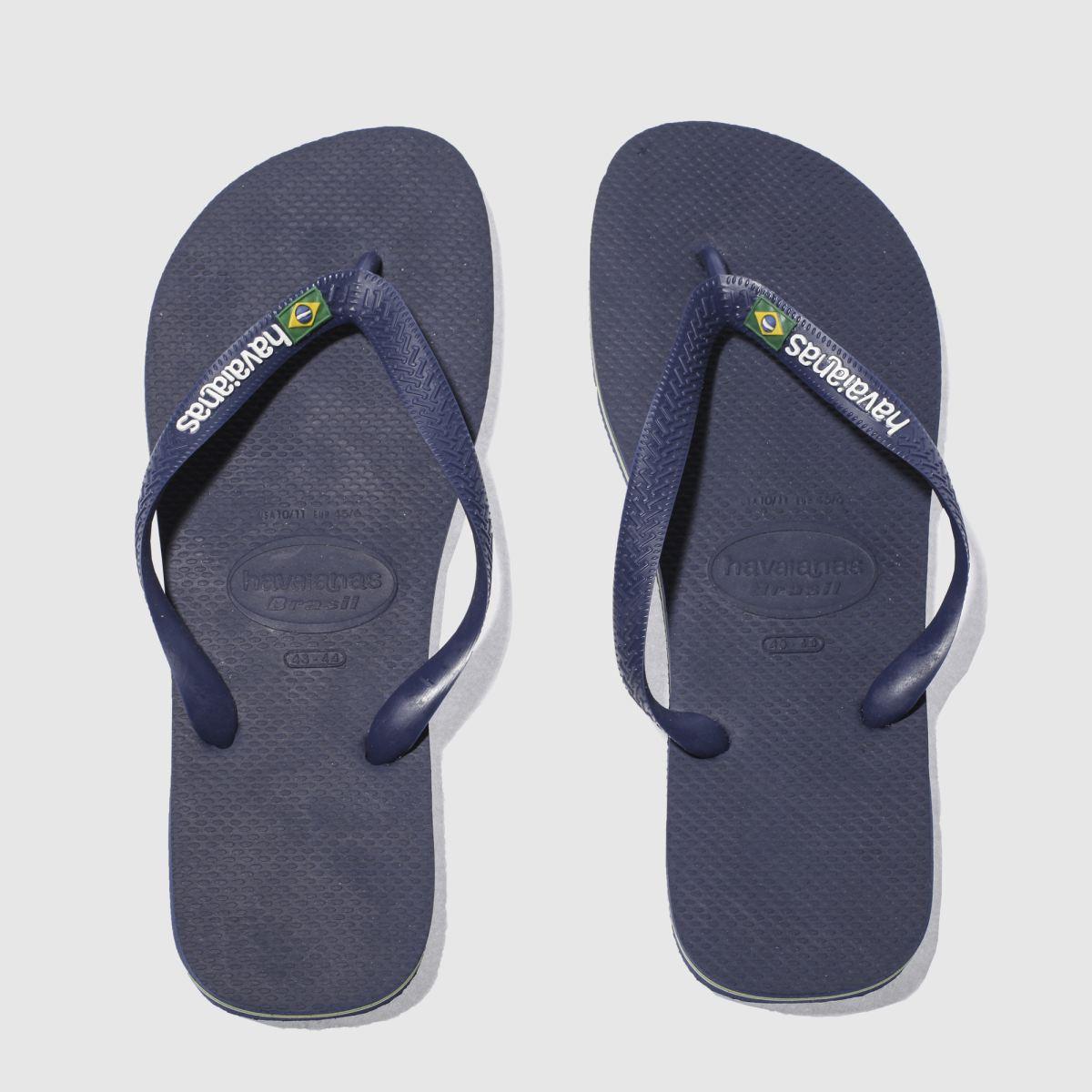 Havaianas Navy Brasil Logo Sandals