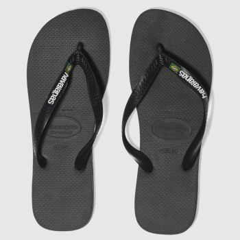 Havaianas Black Brasil Logo c2namevalue::Mens Sandals