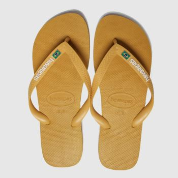 Havaianas Yellow Brasil Layers Mens Sandals