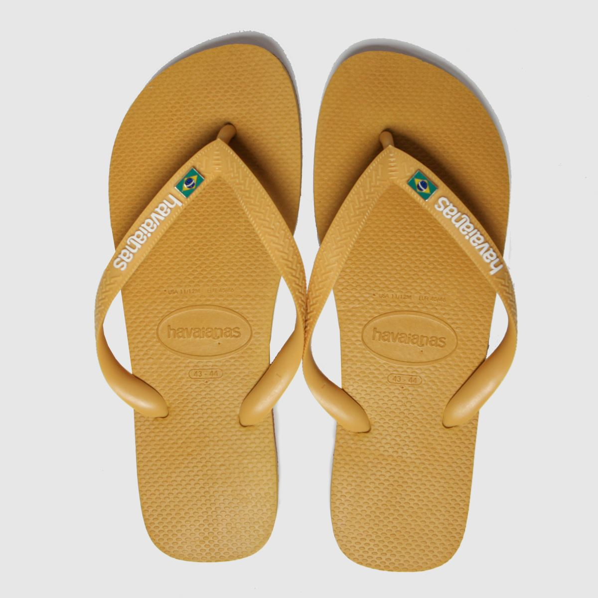 Havaianas Yellow Brasil Layers Sandals