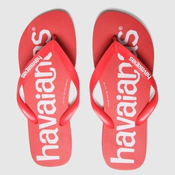 Havaianas Red Top Logomania Mens Sandals