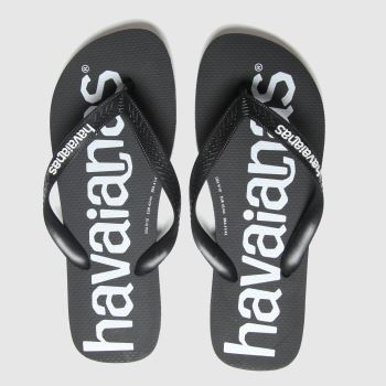 Havaianas Black Top Logomania Mens Sandals