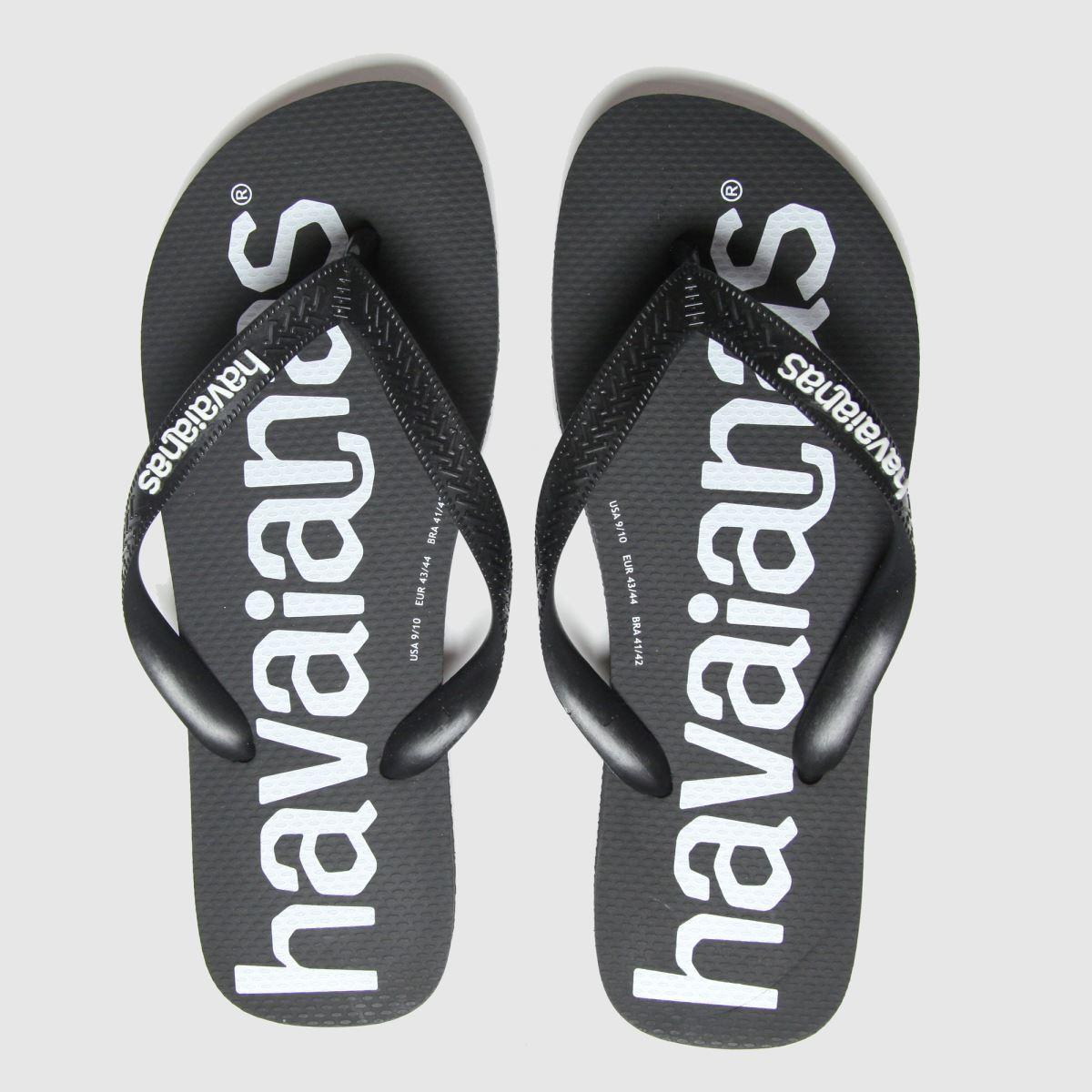 Havaianas Black Top Logomania Sandals