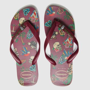 Havaianas Burgundy Top Tribo Mens Sandals