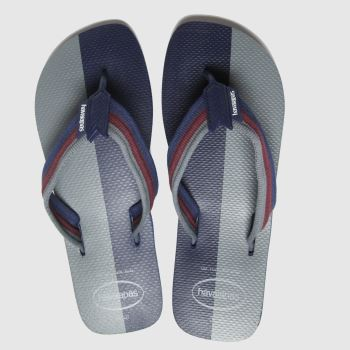 havaianas Navy Urban Color Block Mens Sandals