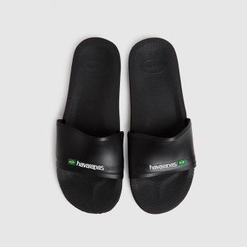 Havaianas Black Slide Brasil Mens Sandals