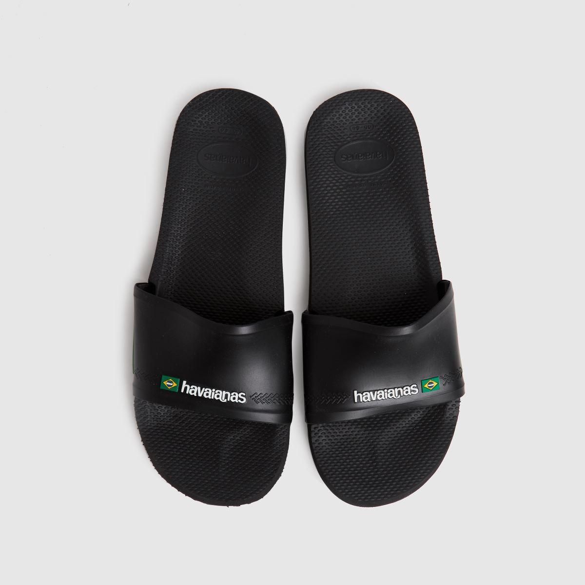 Havaianas Black Slide Brasil Sandals