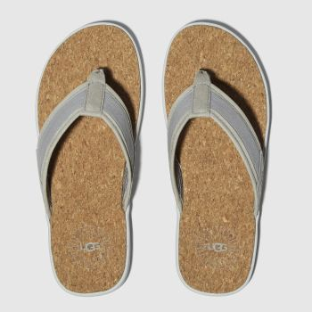 Ugg Grey Seaside Flip c2namevalue::Mens Sandals