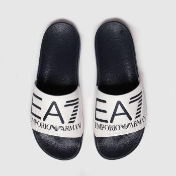 Ea7 Emporio Armani White & Navy Sea World Visibility c2namevalue::Mens Sandals