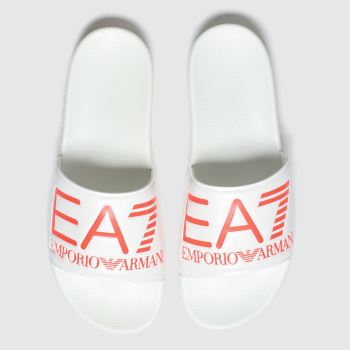 Ea7 Emporio Armani White & Orange Sea World Visibility c2namevalue::Mens Sandals