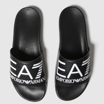 Ea7 Emporio Armani Black & White Sea World Visibility Mens Sandals#