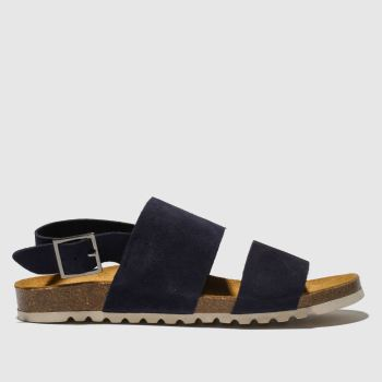 red or dead navy mr wright sandals