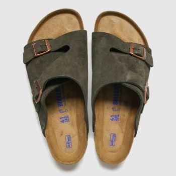 BIRKENSTOCK Brown Zurich Mens Sandals