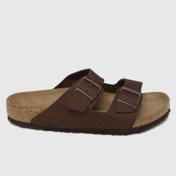 BIRKENSTOCK Brown Arizona Vegan Mens Sandals