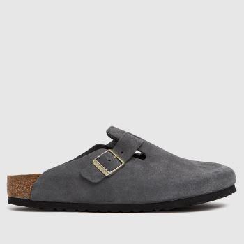 BIRKENSTOCK Dark Grey Boston Mens Sandals