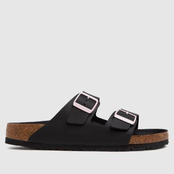 BIRKENSTOCK Black Arizona Mens Sandals