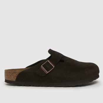BIRKENSTOCK Brown Boston Mens Sandals