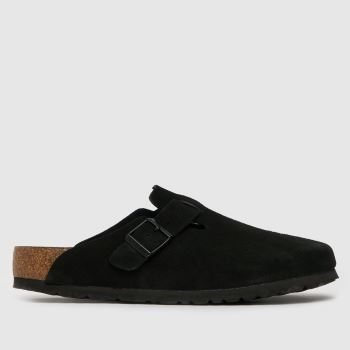 BIRKENSTOCK Black Boston Mens Sandals