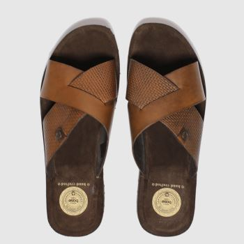 Base London Brown Base Leo Slide Mens Sandals