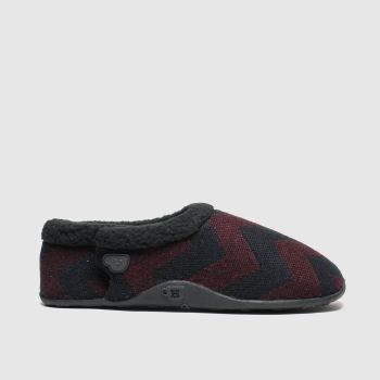 Homeys Black & Red Ivor Mens Slippers