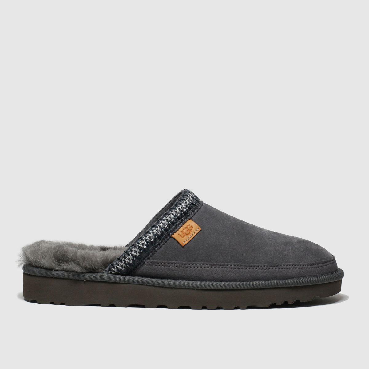 Ugg Dark Grey Tasman Slip-on Slippers