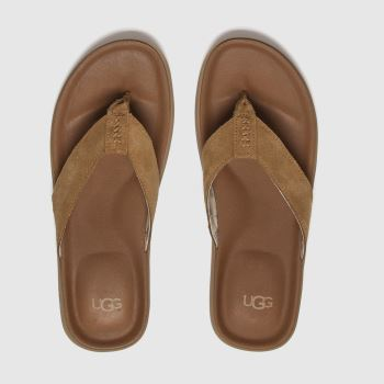 Ugg Tan Brookside Mens Sandals#