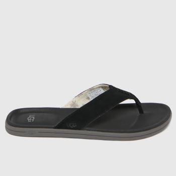 UGG Black Brookside Flip Mens Sandals