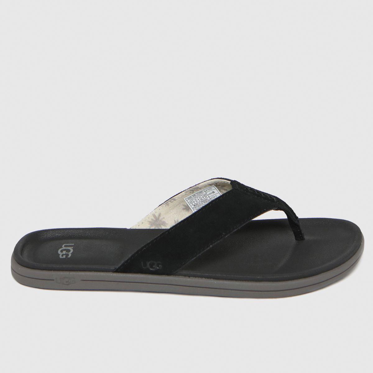 UGG Black Brookside Flip Sandals