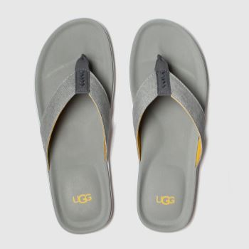Ugg Grey Brookside Flip Canvas c2namevalue::Mens Sandals