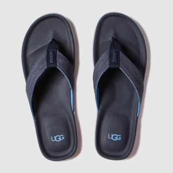 Ugg Dark Grey Brookside Flip Canvas Mens Sandals