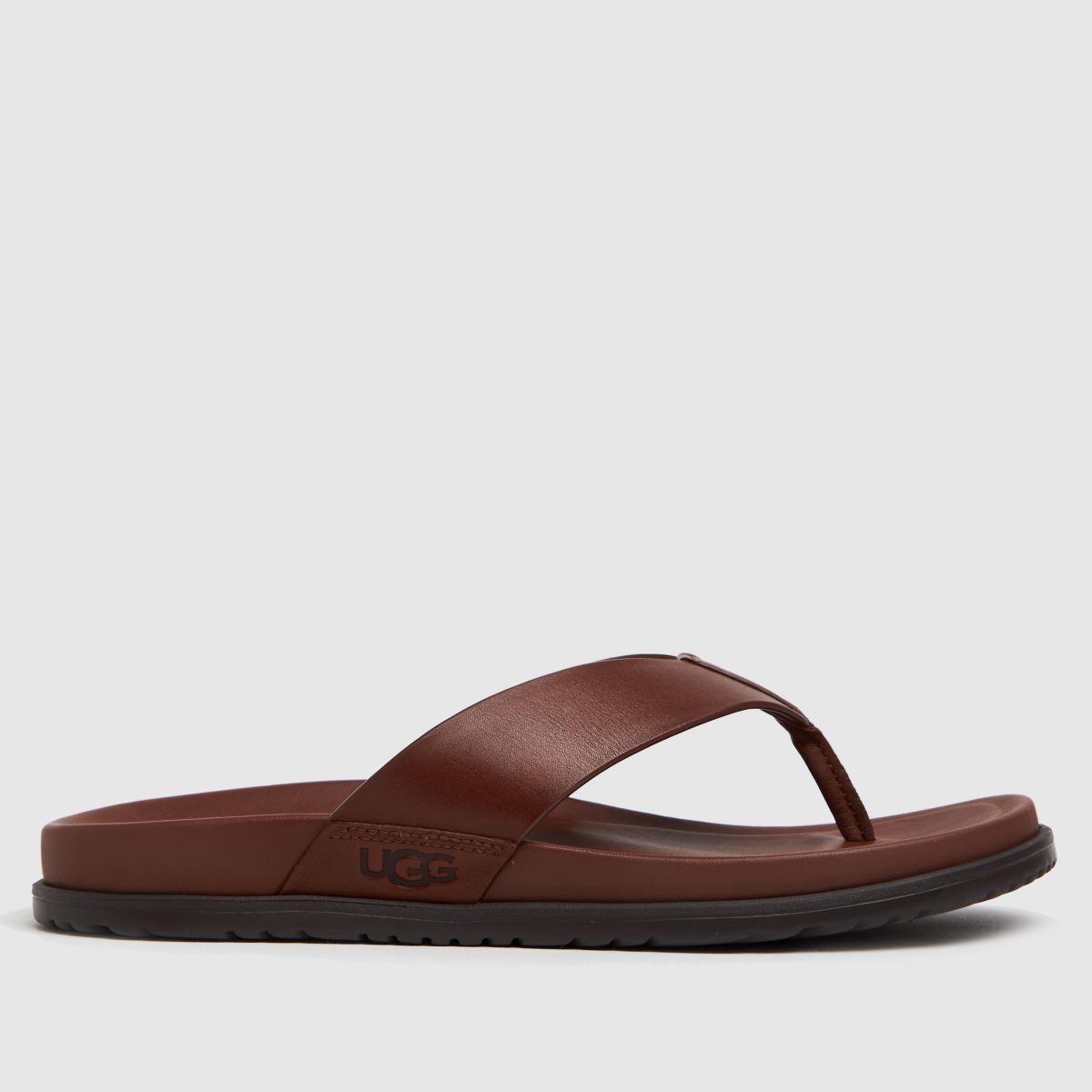 UGG Tan Wainscott Flip Sandals