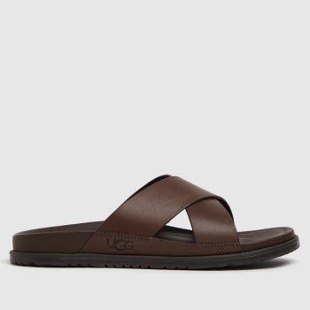 UGG Brown Wainscott Flip Mens Sandals