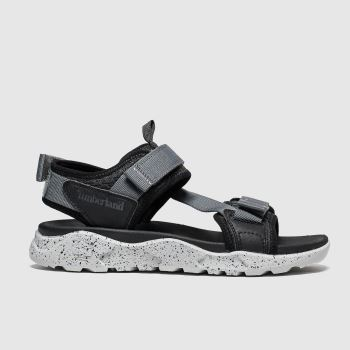 Timberland Black & Grey Ripcord Mens Sandals