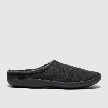 toms black & grey berkeley slippers