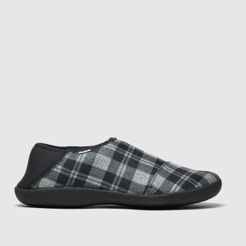 Toms Black & Grey Rodeo Mens Slippers