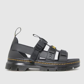 Dr Martens Black Pearson Mens Sandals