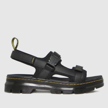 Dr Martens Black Forster Mens Sandals
