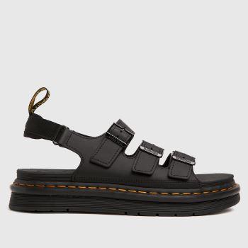Dr Martens Black Soloman Mens Sandals
