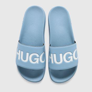 HUGO Pale Blue Match Slide Logo Mens Sandals