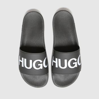 HUGO Black & White Match Slide Logo Mens Sandals