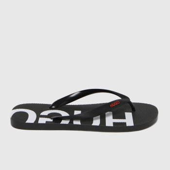 HUGO Black Onfire Flip Mens Sandals