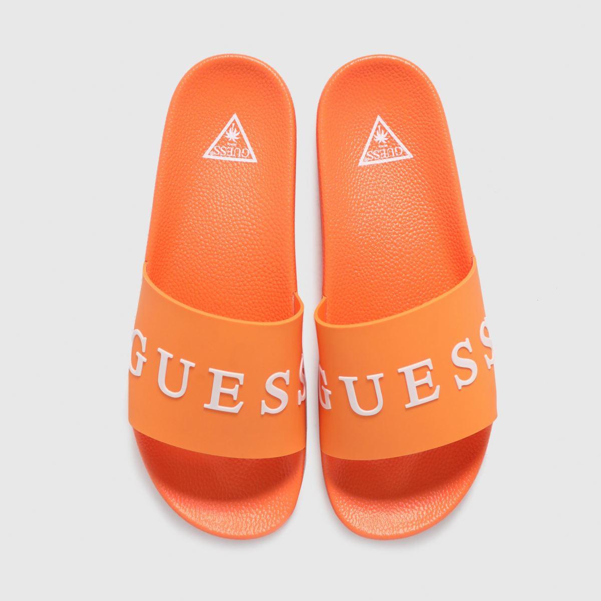 GUESS Orange Logo Slide Sandals