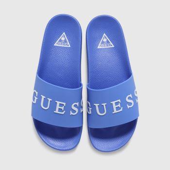 GUESS Blue Logo Slide Mens Sandals