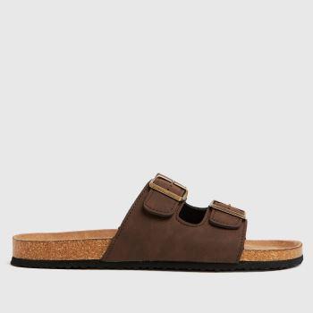 schuh Brown Sid Footbed Sandals