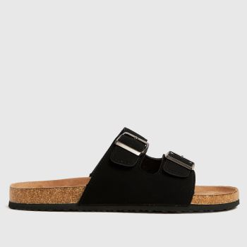 schuh Black Sid Footbed Mens Sandals